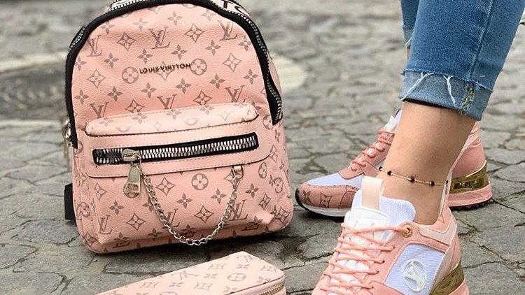 Lious Vuitton backpack set