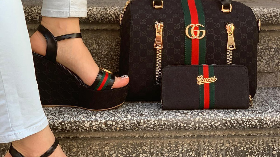 Gucci Bagroo kelly bag set