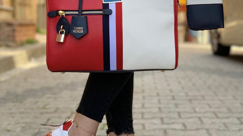 Tommy Hilfger satchel hand bag set