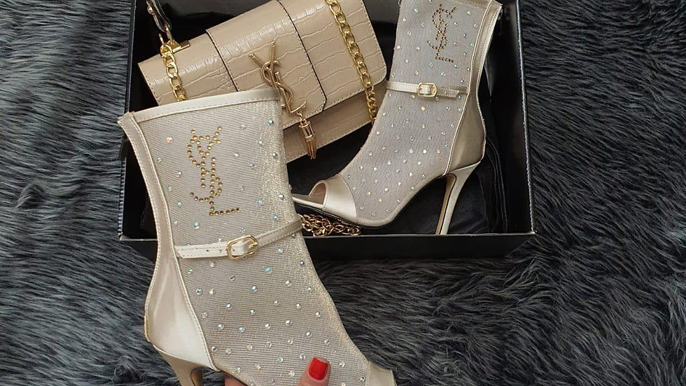 YSL high heeled boots set