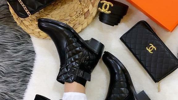 Channel flat Ankle shoe set