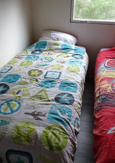 Slaapkamer, twee 1 persoonsbedden