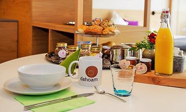 Frühstück Ferienwohnung Chalet Dahoam