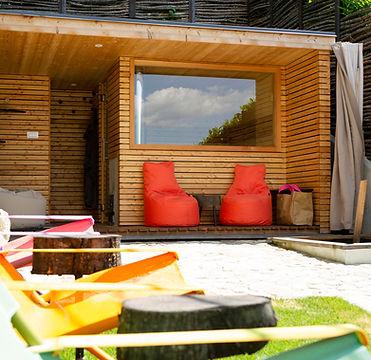 Sauna Garten Dahoam Naturresidence Schenna Südtirol