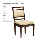 Campana Side Chair with Upholstered Back