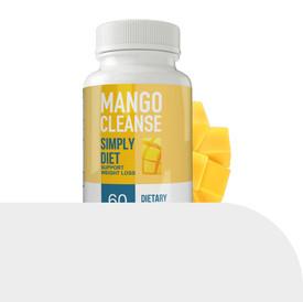SIMPLY DIET MANGO CLEANSE LABEL DESIGN