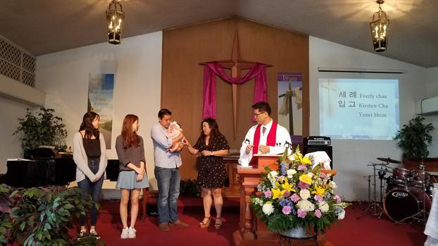 2018년 4월1일 입교 및 유아세례