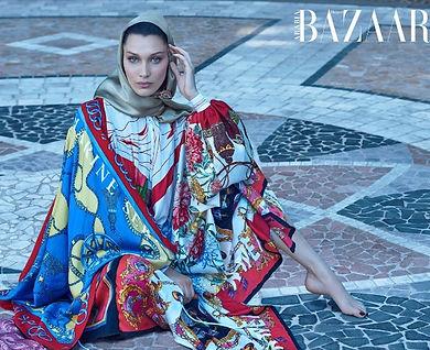 Bella Hadid Haarpers Bazar Arabia October cover star