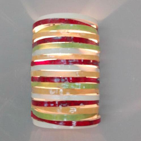 מנורת קיר פסים צבעונית
