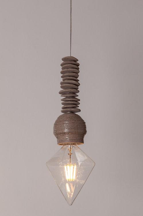 מנורת פחם לד חברת חשמל אפורה