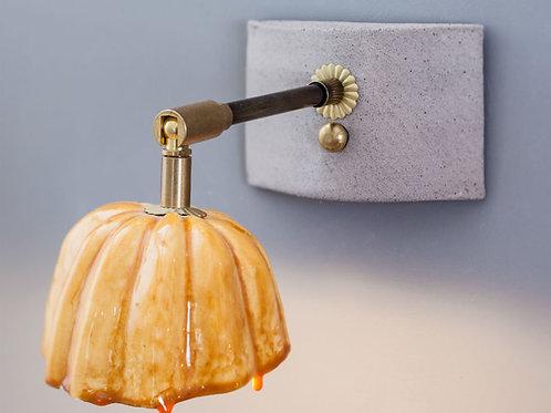 מנורת קריאה דלעת ערמונים צהובה