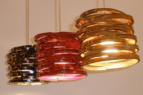 מנורת טבעות דקות צבעונית