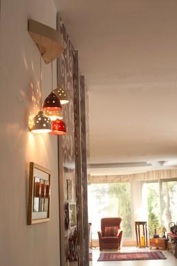 מנורת קיר חמישיית פעמונים