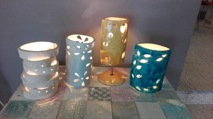 סדנת מנורות קרמיקה