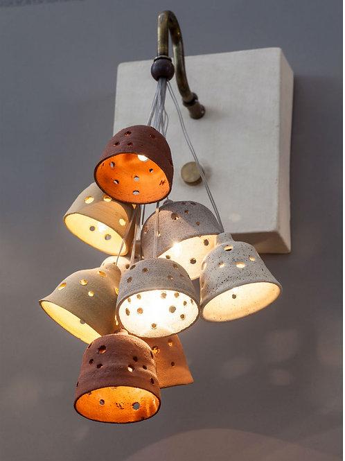 מנורת זר פעמונים טבעי