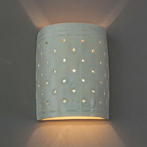 מנורת קיר פרחים תכלת