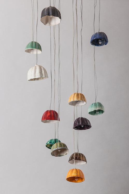 מנורת מטריות צבעוניות
