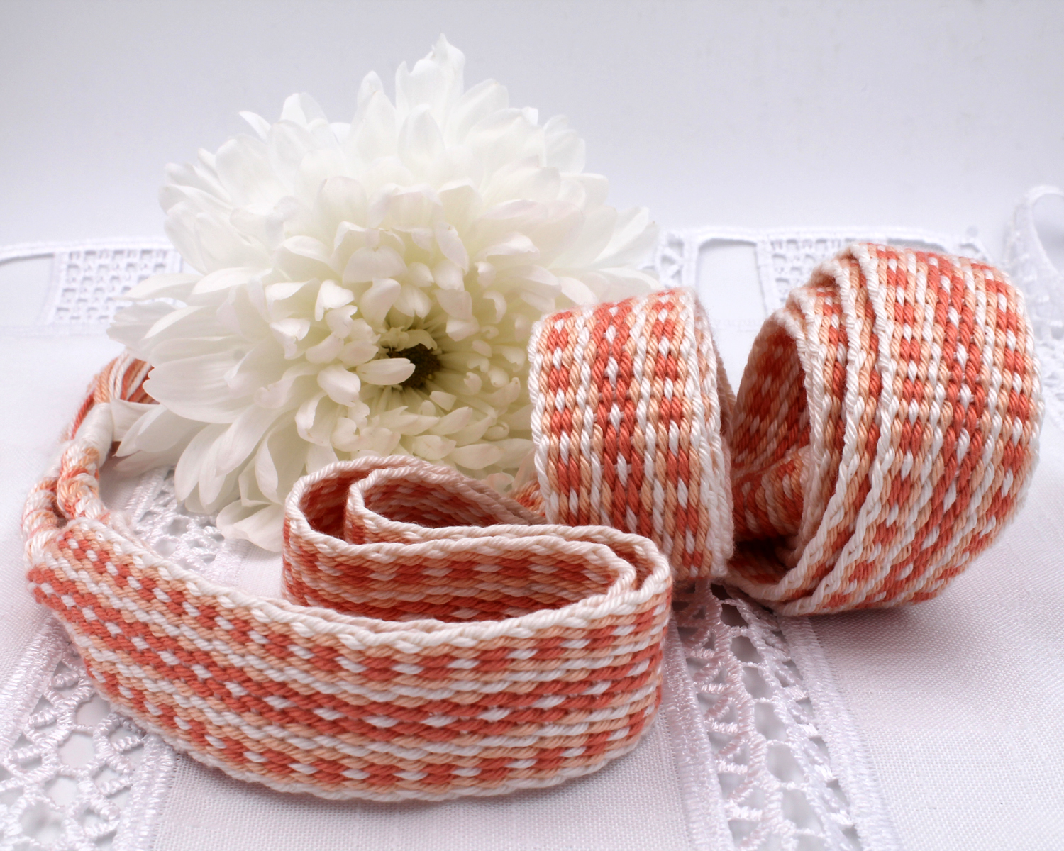 Handfasting Cord - Coral (8)