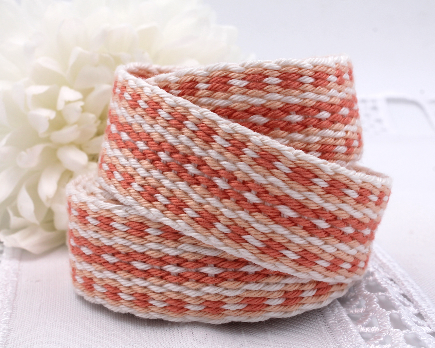 Handfasting Cord - Coral (2)
