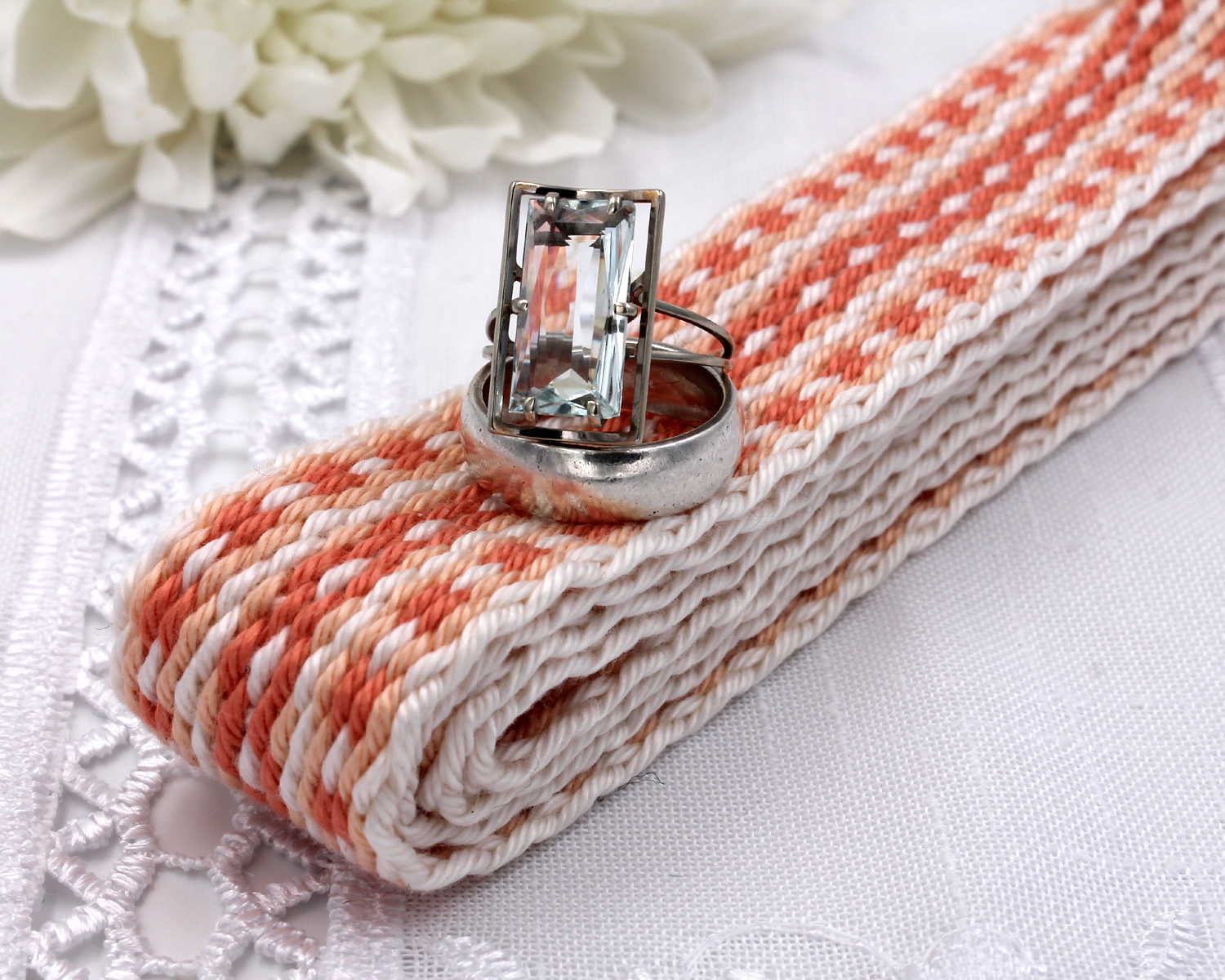 Handfasting Cord - Coral (4)