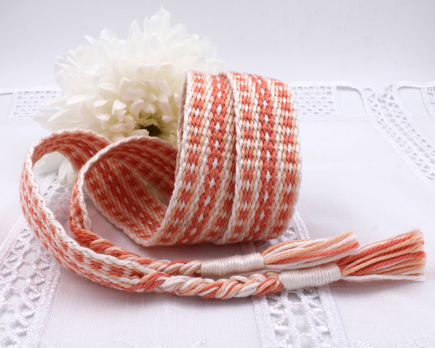 Handfasting Cord - Coral (9)
