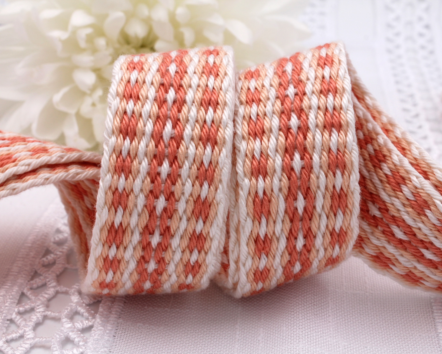 Handfasting Cord - Coral (7)