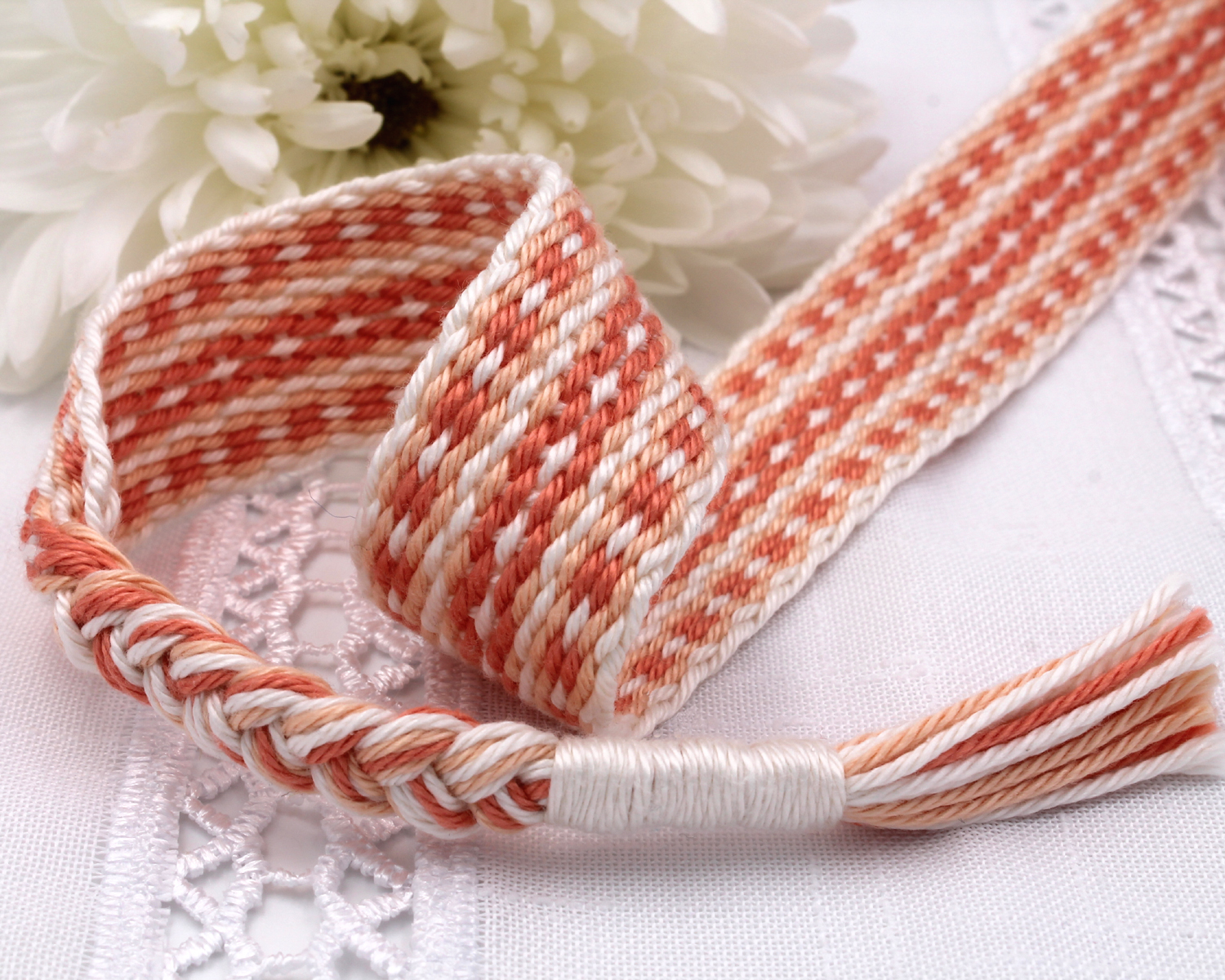 Handfasting Cord - Coral (5)