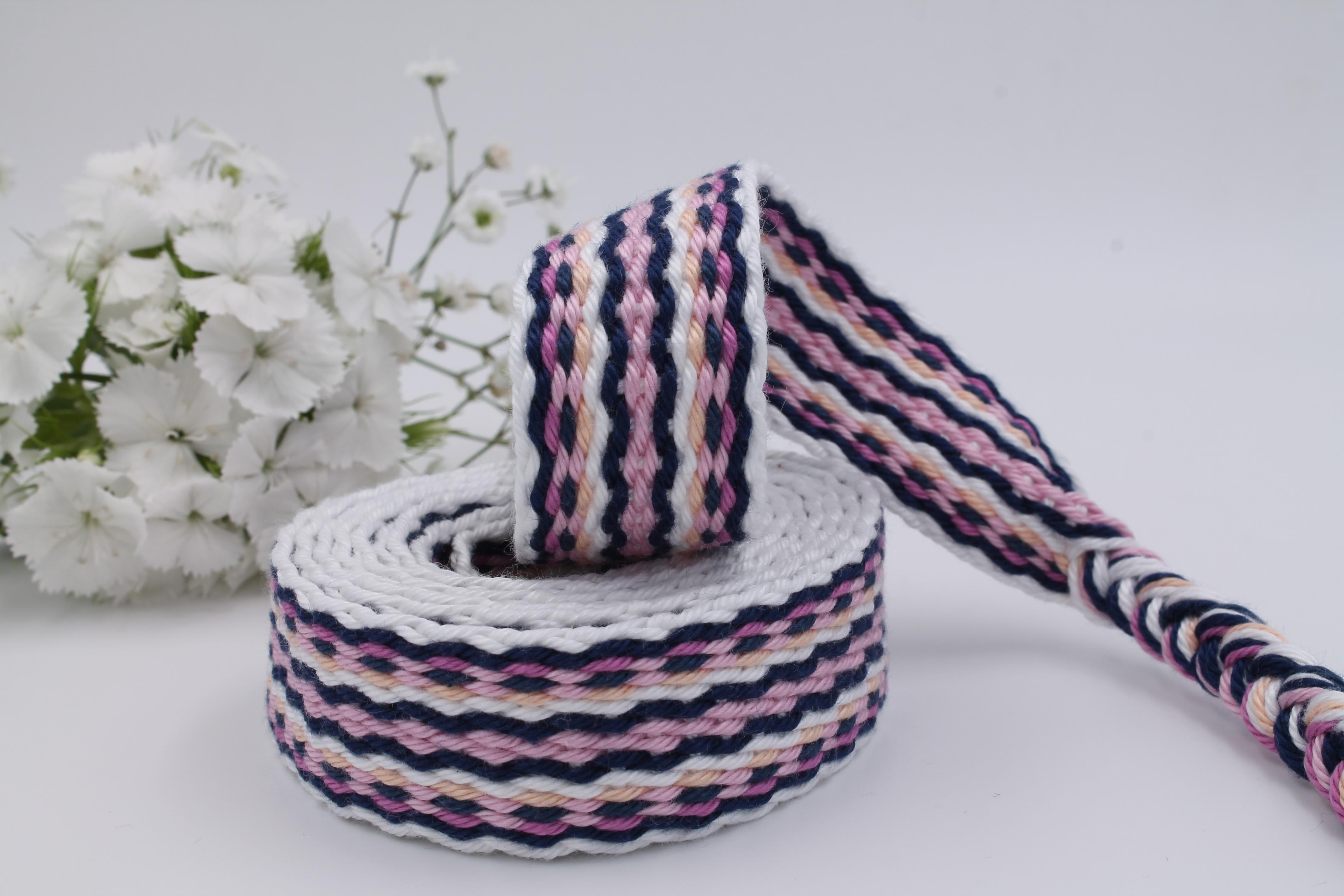 Handfasting Cord - Soft pink & Navy Blue