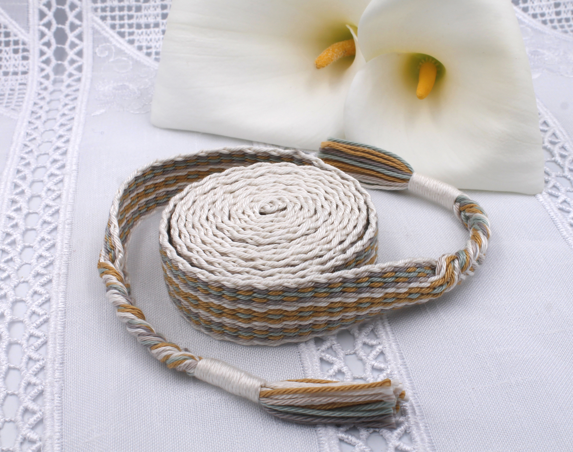 Handfasting Cord - Golden Sage (1)
