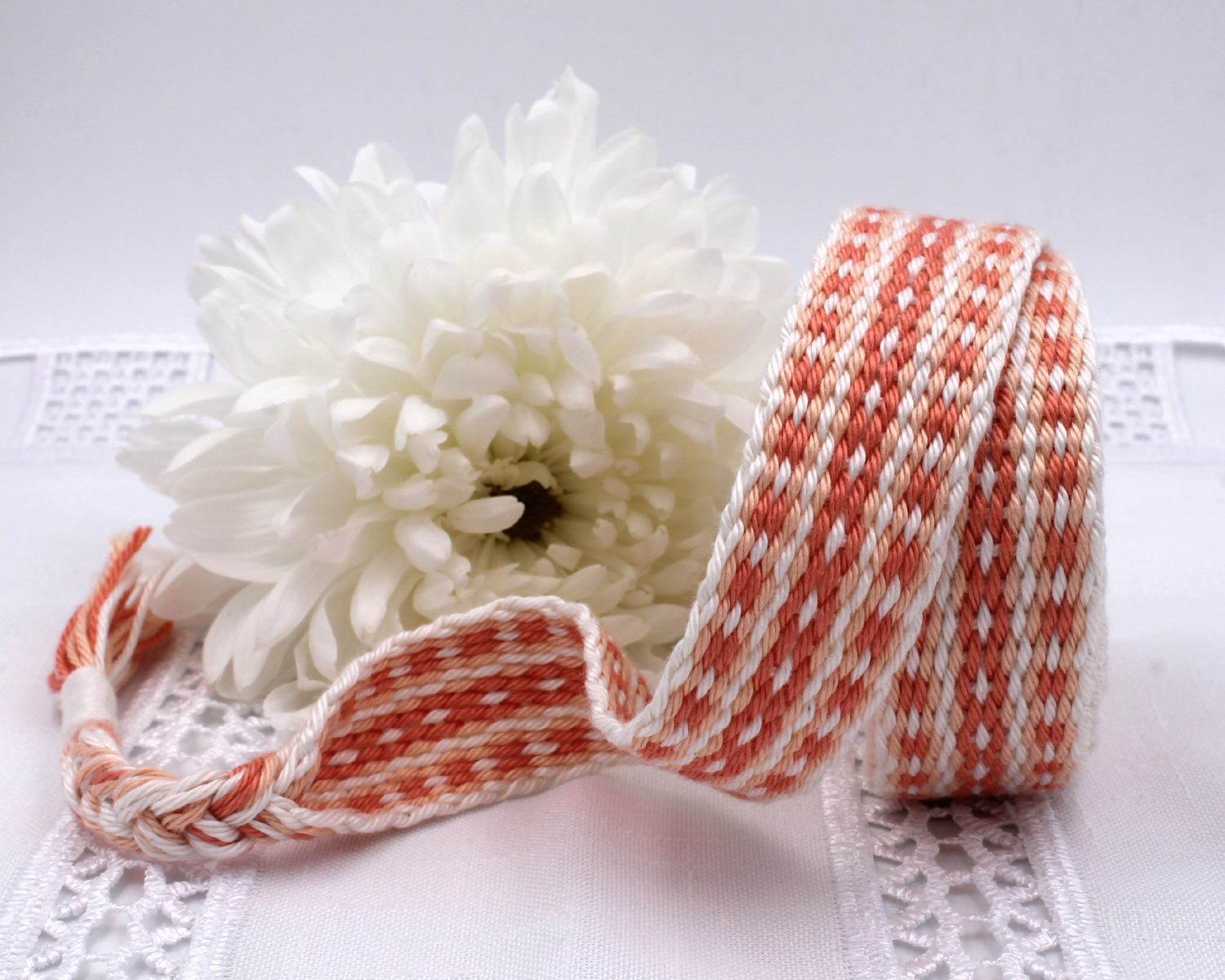 Handfasting Cord - Coral