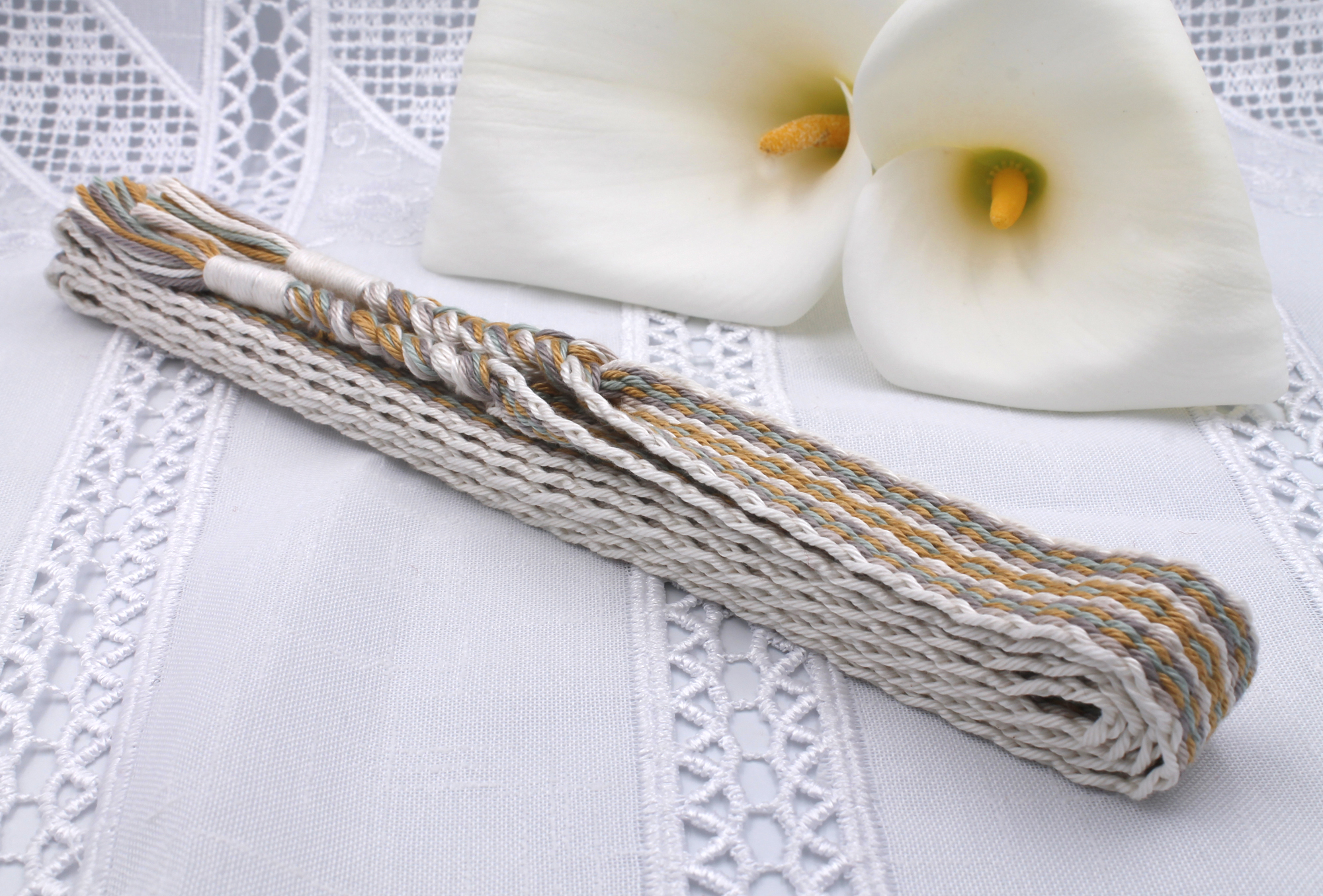 Handfasting Cord - Golden Sage (2)