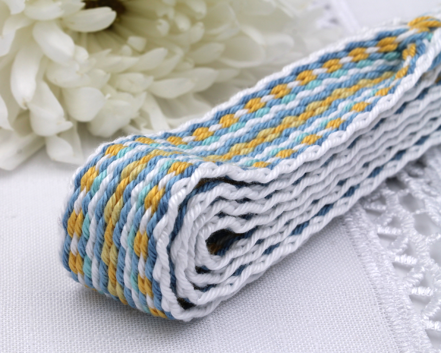 Handfasting Cord -Baby Blue & Yellow (7)