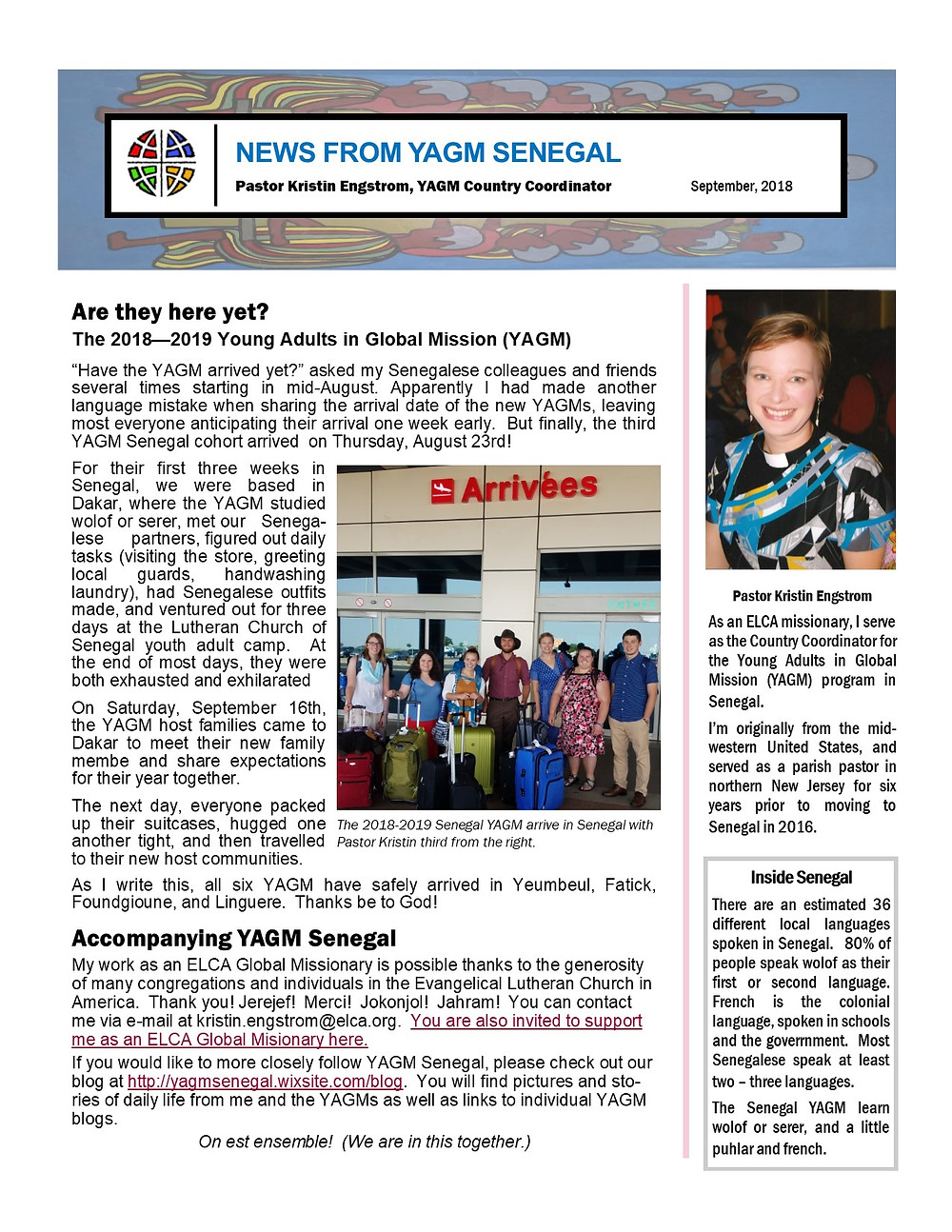September Newsletter, page 1