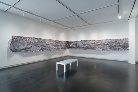 """Installed at Upfor Gallery, Portland, OR, as part of the exhibtion """"No One Above or Below"""""""