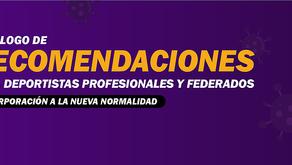 Transición hacia la nueva normalidad de deportistas profesionales y federados