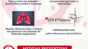 RECOMENDACIONES COLEFC y MEDIDAS PREVENTIVAS ESPECÍFICAS ANTE EL COVID-19