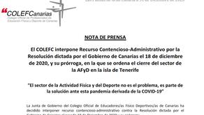 NDP COLEFC Interpone Recurso Contencioso-Administrativo