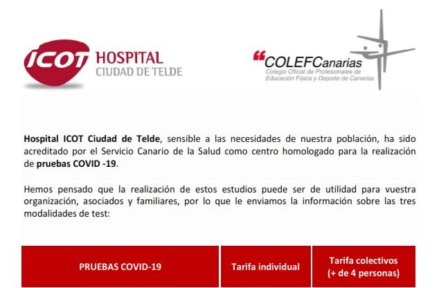 OFERTA Icot Hospital Ciudad de Telde