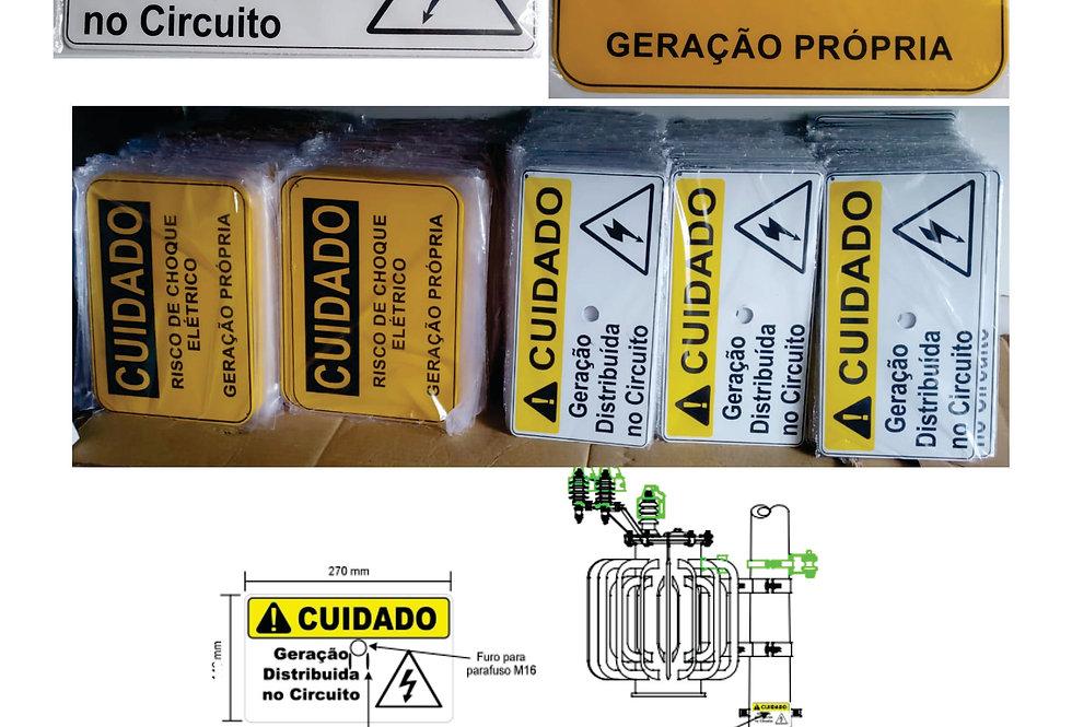 PLACA PADRÃO ENEL - GERAÇÃO DISTRIBUÍDA NO CIRCUITO