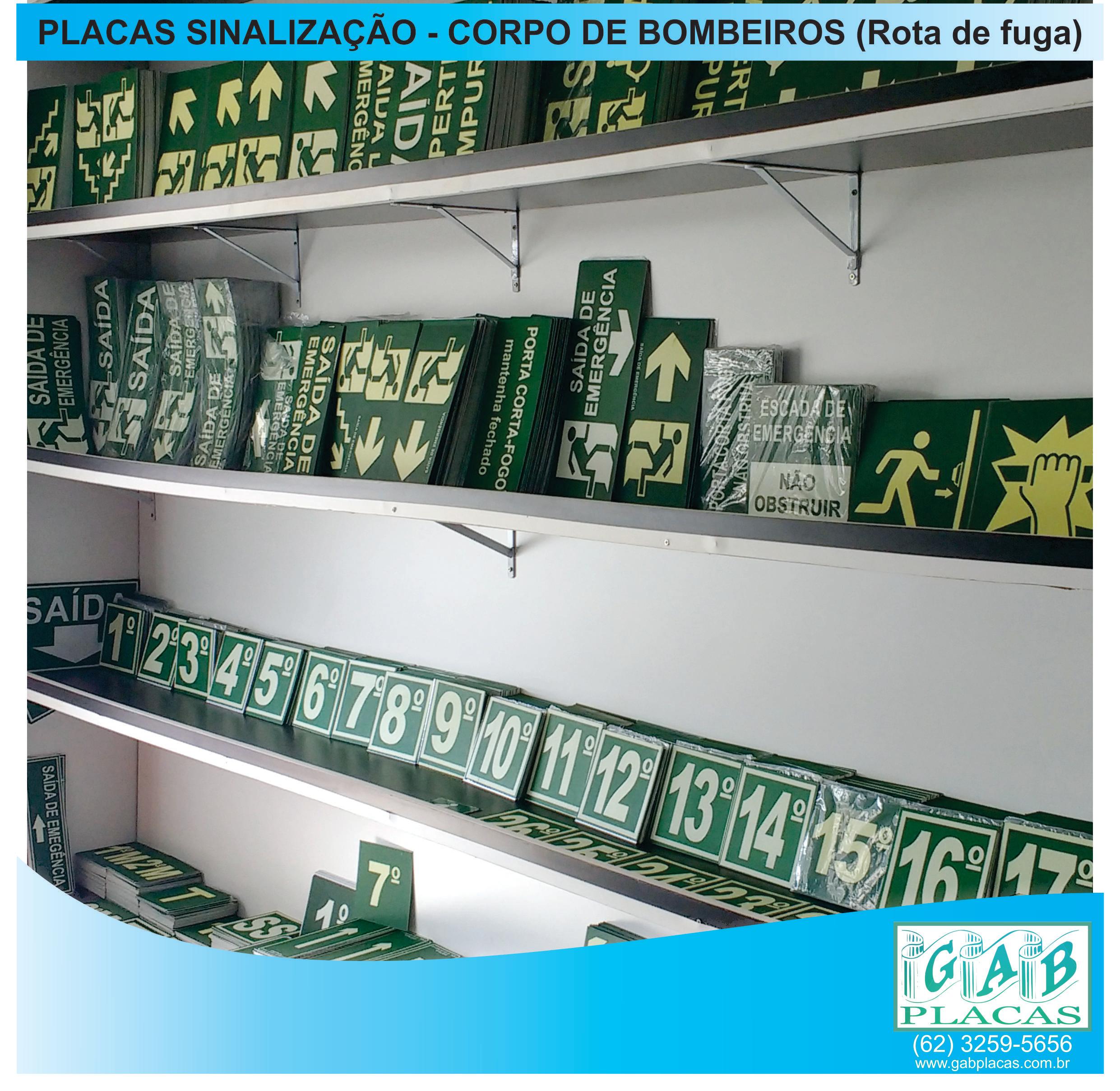 GAB_Placas_Goiânia_GO_-_Placas_de_sinalização_-_corpo_de_bombeiros_rota_de_fuga