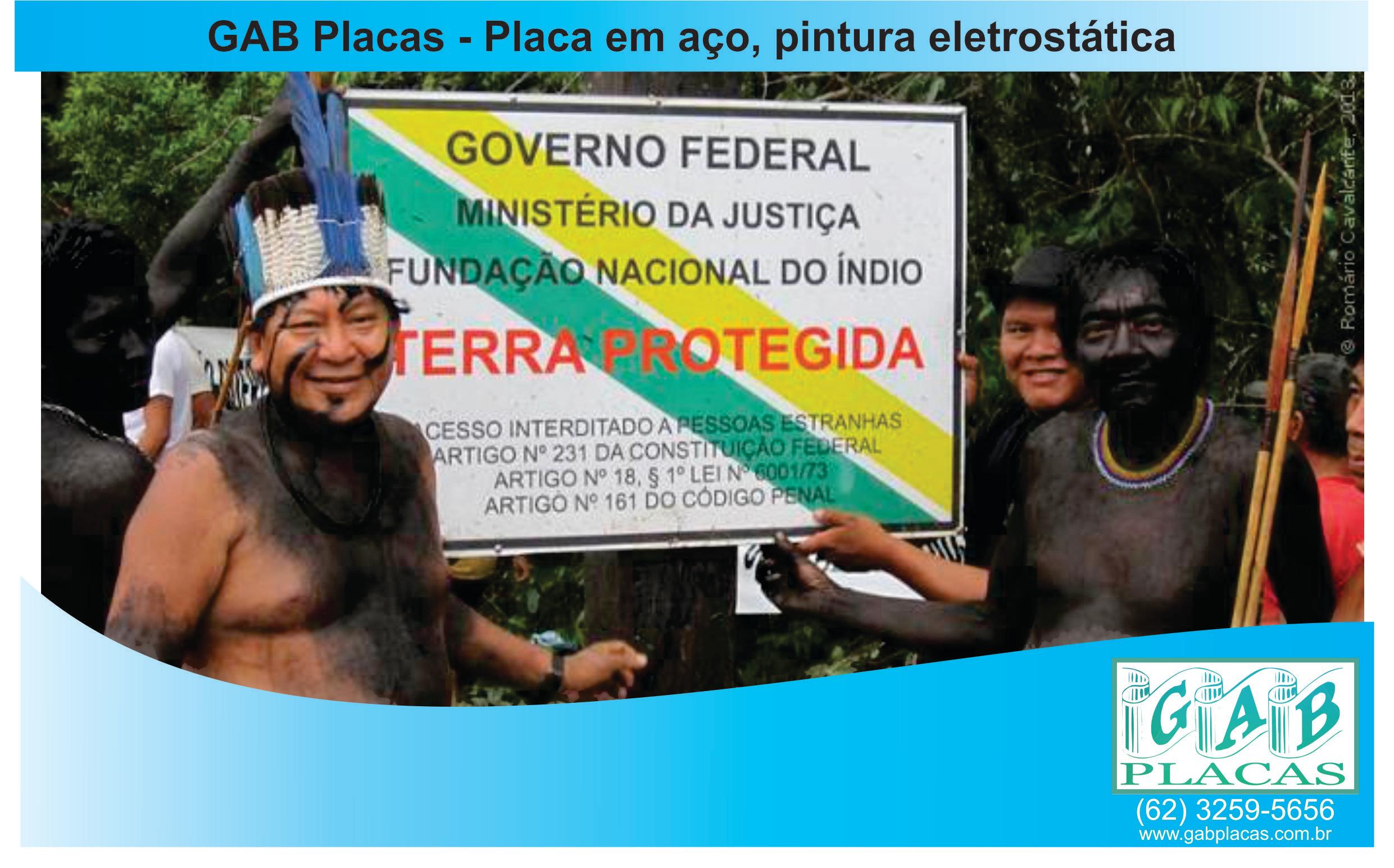 GAB_Placas_Goiânia_GO_-_Placa_em_aço,_pintura_eletrostática