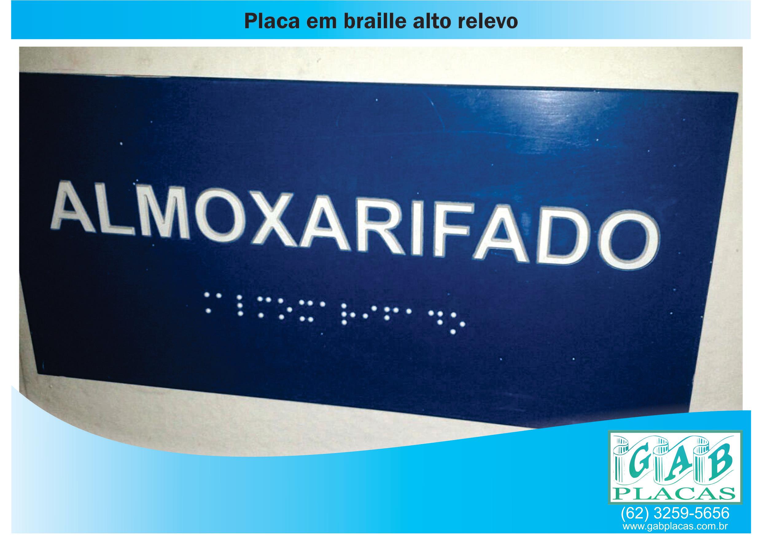 GAB_Placas_Goiânia_GO_-_Placa_em_braille_alto_relevo_em_ACM_e_pvc