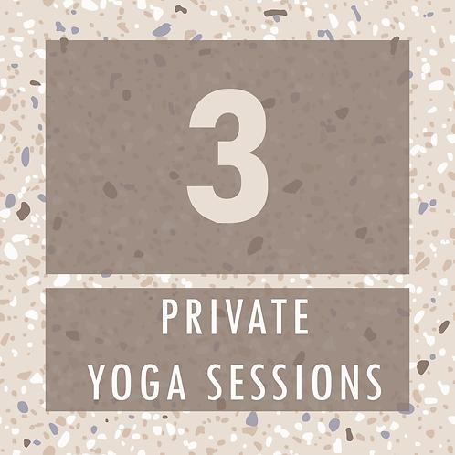 3 Private Yoga Sessions