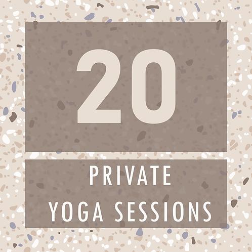 20 Private Yoga Sessions