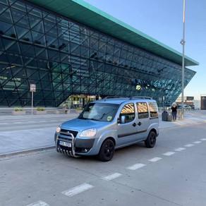 Dnešní odvoz zákazníka z letiště Krakow