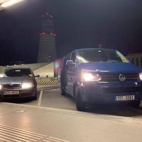 Noční odvoz zákazníků z letiště Vídeň do Českého Těšína a Karviné