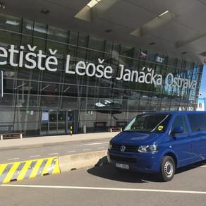 Dnešní odvoz zákazníků na letiště Leoše Janáčka Ostrava.