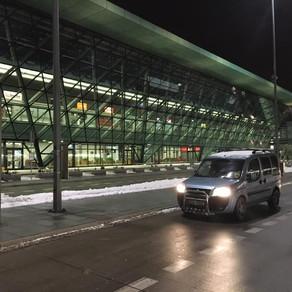 Dnešní ranní odvoz zákazníka na letiště Krakov
