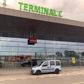 Nedělní odvoz zákazníka z letiště Katowice do Orlové.