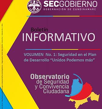 Boletines mensuales investigaciones de seguridad y convivencia